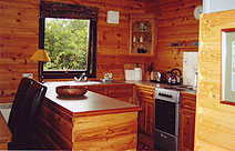 driftwood kitchen at carrick shore holiday chalets